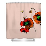 A Few Poppies Shower Curtain