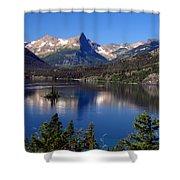 A Glacier Lake Shower Curtain