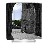 A Gothic View Shower Curtain