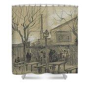 A Guinguette Paris, February - March 1887 Vincent Van Gogh 1853 - 1890 Shower Curtain