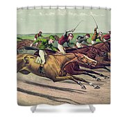 A Head And Head Finish  Shower Curtain