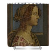 A Lady In Profile Shower Curtain
