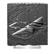 A Lockheed P-38 Lightning Fighter Shower Curtain