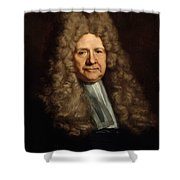 A Magistrate Painting Painted Originally Shower Curtain