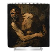 A Miser Study For Timon Of Athens Shower Curtain