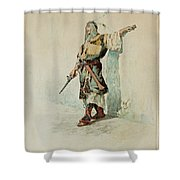A Moorish Soldier Before A Sunlit Wall Shower Curtain