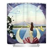 A New Life Is Born Shower Curtain