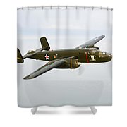 A North American B-25 Mitchell Shower Curtain by Scott Germain