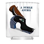 A Nubile Anubis Shower Curtain