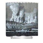 A Pair Of Industrial River Shower Curtain