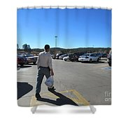 A Parking Area Shower Curtain