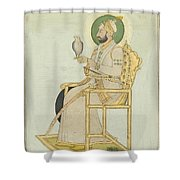 A Portrait Of Muhammad Shah Shower Curtain
