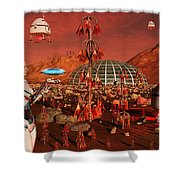 A Robot And Landing Craft Making Shower Curtain