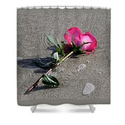 A Rose For Julie Shower Curtain