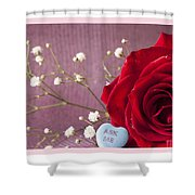 A Rose For Valentine's Day - 2 Shower Curtain