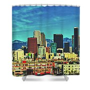 A Slice Of Los Angeles Shower Curtain