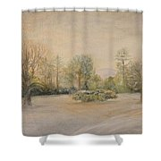 A Snowy Morn At Dalhebity Shower Curtain