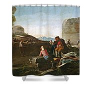 A Stickball Game Shower Curtain