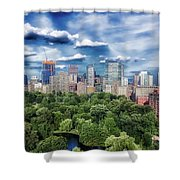 A Summer Day In Boston Shower Curtain