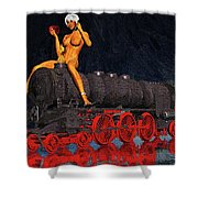 A Surrealist Lady Chatterley Shower Curtain