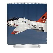 A T-45c Goshawk Training Aircraft Shower Curtain