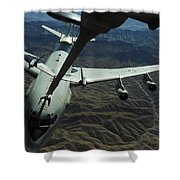 A U.s. Air Force E-3 Sentry Aircraft Shower Curtain by Stocktrek Images
