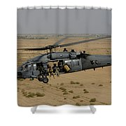A U.s. Air Force Hh-60 Pavehawk Flies Shower Curtain