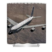 A U.s. Air Force Rc-135 Rivet Joint Shower Curtain
