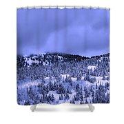 A Utah Winter Shower Curtain