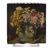 A Vase Of Wild Flowers Shower Curtain