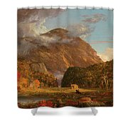 A View Of The Mountain Pass Called The Notch Of The White Mountains, Crawford Notch Shower Curtain