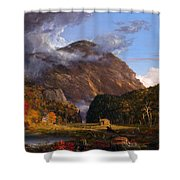 A View Of The Mountain Pass Called The Notch Of The White Mountains Shower Curtain