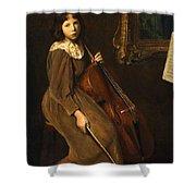 A Young Violoncellist Shower Curtain