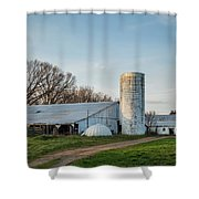 Abandoned Countryside Farm In The Afternoon Shower Curtain
