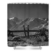 Abandoned Wagon In The High Sierra Nevada Mountains Shower Curtain