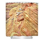 Above Wash 3 In Valley Of Fire Shower Curtain