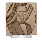 Abraham Lincoln Circa 1860  Shower Curtain