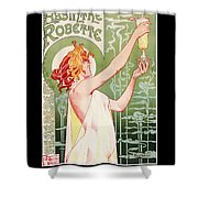 Absinthe Robette Shower Curtain