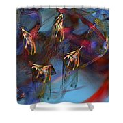Abstract 102910 Shower Curtain