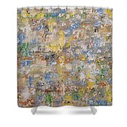 Abstract 189 Shower Curtain