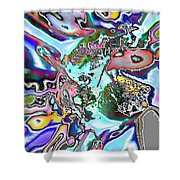 Abstract 6 Shower Curtain