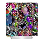 Abstract 62316.5 Shower Curtain