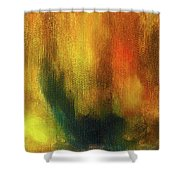 Abstract Background Structure With Oil Painting Texture In Tones Of Nature. Shower Curtain