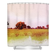 Abstract Beautiful Tree And Landscape For Background. Shower Curtain