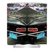 Abstract Black Car Shower Curtain