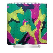 Abstract Camo Shower Curtain