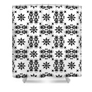 Abstract Ethnic Seamless Floral Pattern Design Shower Curtain