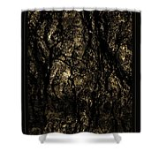 Abstract Gold And Black Texture Shower Curtain