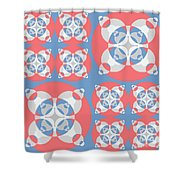 Abstract Mandala White, Pink And Blue Pattern For Home Decoration Shower Curtain