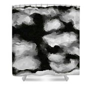 Abstract Monochome 159 Shower Curtain